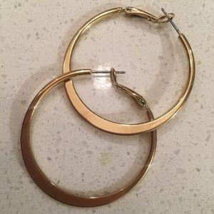 Lia Sophia gold hoops